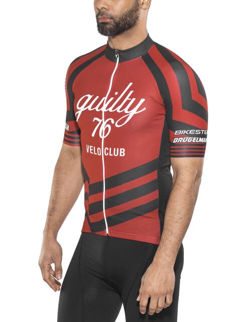 guilty 76 racing Velo Club Pro Race Kortærmet cykeltrøje Herrer rød